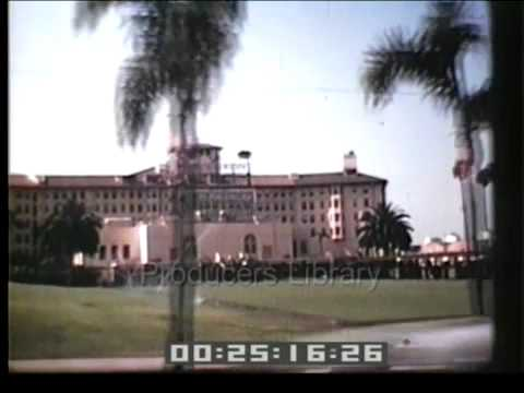 Wilshire Blvd in the 1940s. Footage can be licensed by Producers Library in North Hollywood.