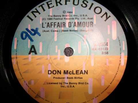 DON MCLEAN - L'AFFAIRE D'AMOUR