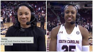 Dawn Staley & Tiffany Mitchell Post-Game ESPNU Interview (LSU)…