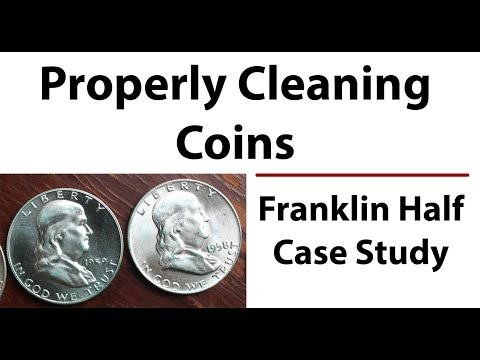 Restoring Properly Cleaning PVC Off Franklin Half Dollar Including Proofs