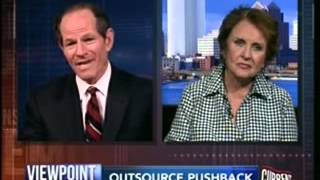Rep. Louise Slaughter interviewed by Eliot Spitzer on unfair trade agreements