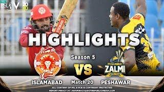 Peshawar Zalmi vs Islamabad United | Full Match Highlights | Match 20 | 7 March | HBL PSL 2020