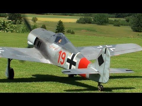 Rc FW-190 with Moki 250cc Radial Engine