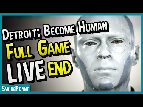 Detroit: Become Human FULL GAME MARATHON - (Detroit Become Human Gameplay Livestream ENDING)
