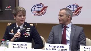 Пресс-конференция экипажа МКС-58/59 в ЦПК им. Ю.А. Гагарина