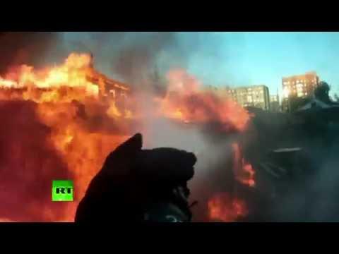 От первого лица: тушение горящего дома в Омске
