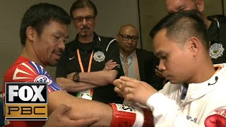Manny Pacquiao and Keith Thurman prepare for WBA welterweight title | BEHIND THE SCENES | PBC ON FOX