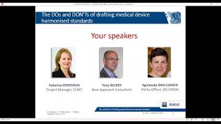 Webinar for standard drafters - The DOs and DONTs of drafting medical device harmonised standards