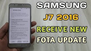 Samsung Galaxy J7 2016 Receive New Fota Update
