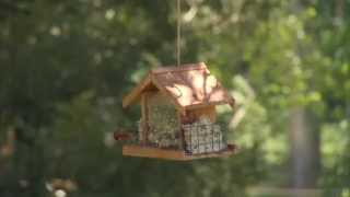 Perky-pet® Deluxe Chalet Feeder Instructional Video | Wooden Bird Feeder