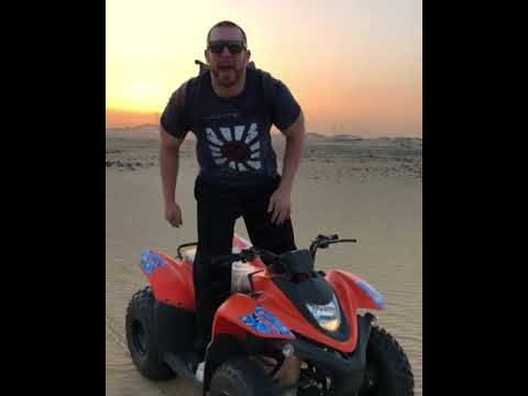 Mojo Rawley is hyped at the desert Safari in Saudi Arabia