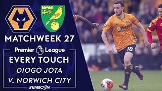 Every Diogo Jota touch for Wolves v. Norwich City | Premier League | NBC Sports