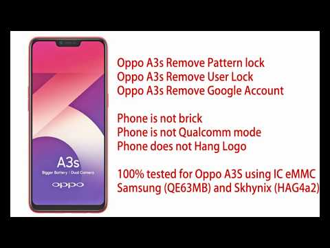 Oppo A3s Remove User Lock and Google Account via direct eMMc