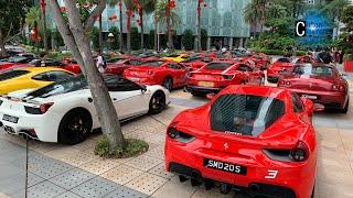 Arrival to Lou Hei 2020   Ferrari Owners Club Singapore 🐴