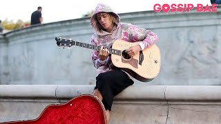 Justin Bieber busking in London!