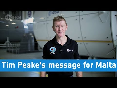 Tim Peake's message for Malta