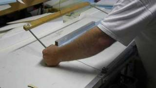 Hot Wire Cutting with Homemade Gravity Cutter Interrogator Wing cutting Part 1.wmv