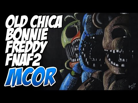 Dibujando a Old Freddy, Old Bonnie y Old Chica de FNAF2
