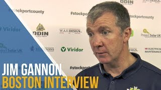 Jim Gannon Post-Match Interview - Boston United