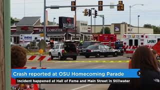 Crash reported at OSU homecoming parade in Stillwater (2015-10-24)