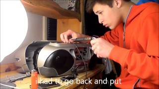 converting an old radio to use any mp3 player