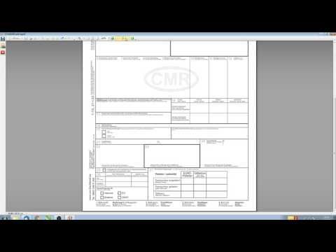 CMR  -  Erste Frachtbriefe
