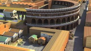 Ostia Antica, harbor of the Imperial Rome - A computer reconstruction