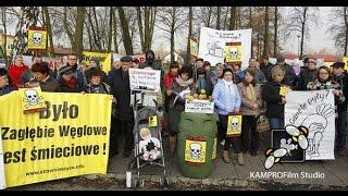 Protest w sprawie 70 ton odpadów z Salwadoru w programie TVN UWAGA 01.12.2014