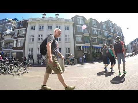 """Amsterdam Centrum.   """" Nieuwmarkt  """".    zomer 2016.  4K UHD"""