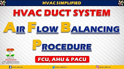 HVAC Duct Air Balancing Calculation - (HVAC Training)