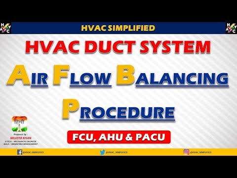 HVAC Duct System Air Balancing Calculation