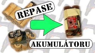 Akuvrtačka - Repase akumulátoru NiMH na Li-ion | oprava baterie