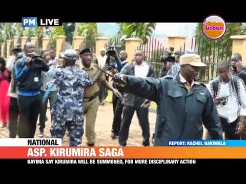 #PMLive: Chaos ensues at police headquarters as ASP Kirumira shunned entering court