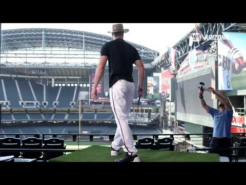 Golfing with Arizona Diamondbacks in Chase Field