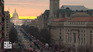 Time-lapse of sunrise on Inauguration Day 2017