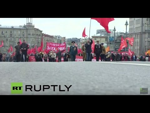 LIVE: Communist Party demo at Teatralnaya Square in Moscow on May 1