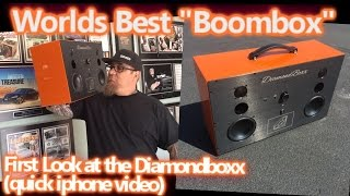 Worlds Best Boombox - Custom Pearl Orange Diamondboxx - CLEAN and LOUD