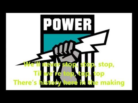 Port Adelaide Power theme song (Lyrics) AFL Sing-A-Long