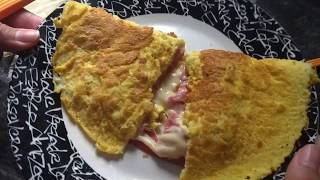 Omelete feito sem óleo!