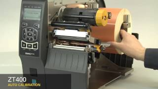 Zebra ZT410 Industrial Printer Automatic Calibration