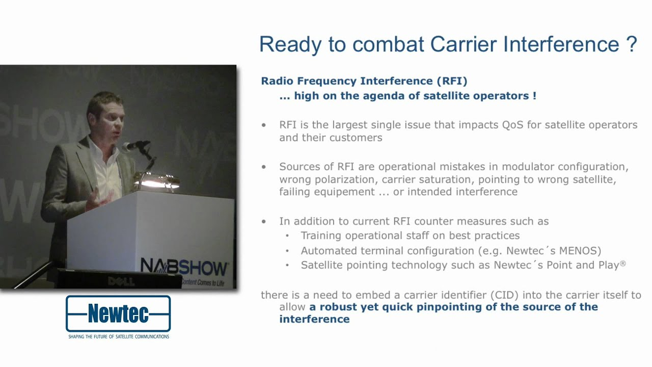 Radio Frequency Interference and satellite Carrier ID