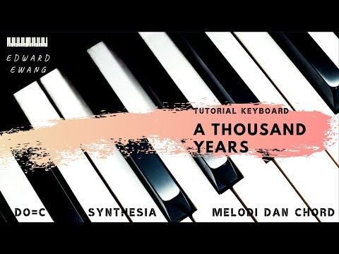 a thousand years piano virtual not angka tutorial