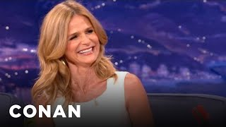 Even after 24 years, she can still embarrass him in public. more conan @ http://teamcoco.com/video
