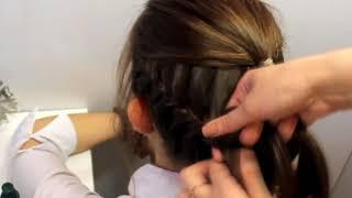 Прическа в школу и на 1 сентября пучок из косы колосок/hairstyles for school and on September 1