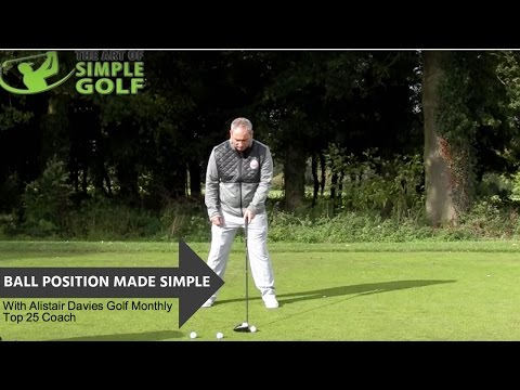 Where To Position The Golf Ball | Simple Golf Tips For Better and Consistent Striking