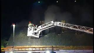 Pożar budynku w Zielonej Górze. Dwie osoby są poszkodowane
