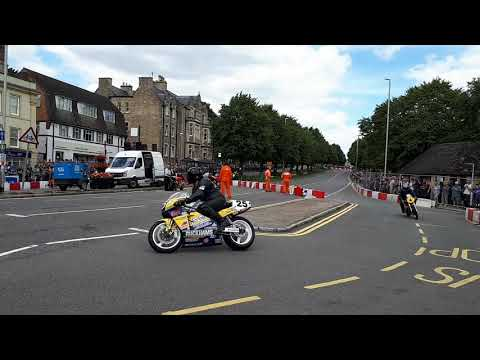 Classic racers at Brackley Festival of Motorcycling 2017