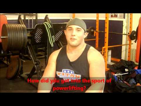 Austin Sellers - Powerlifting Interview 2012 - www AndersonPowerlifting com