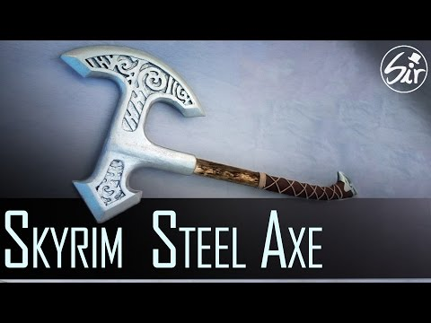 How to make a Steel Axe from Skyrim out of Wood - DIY