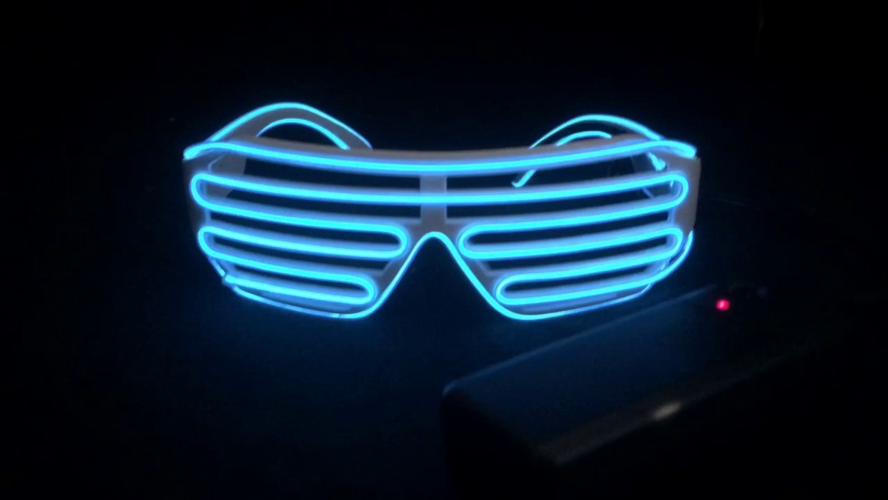 EL Wire Shutter Shades - YouTube